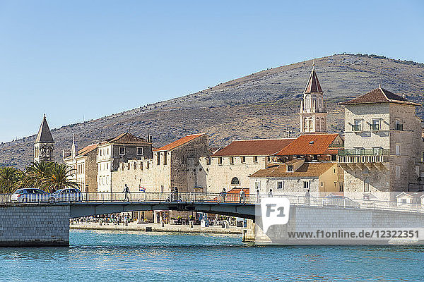 Cityscape of the old town of Trogir  UNESCO World Heritage Site  Croatia  Europe