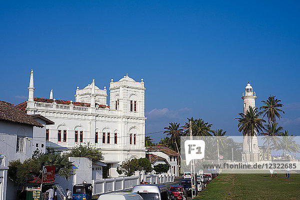 The old town of the historic Galle Fort  UNESCO World Heritage Site  Sri Lanka  Asia