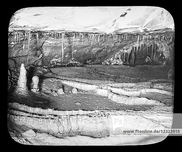 Jenolan Caves  limestone caves  circa 1900  by photographer Henry King; New South Wales  Australia