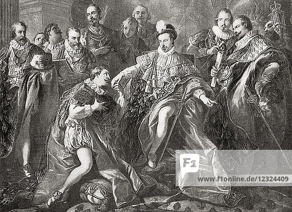 Henry III instituting The Order of the Holy Spirit  aka Order of the Knights of the Holy Spirit  in 1578. Henry III 1551 – 1589. King of the Polish-Lithuanian Commonwealth and King of France. From Hutchinson's History of the Nations  published 1915.
