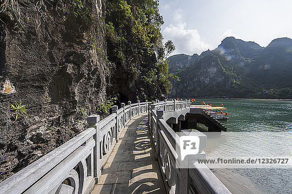 Causeway to Sung Sot Cave  Ha Long Bay; Quang Ninh  Vietnam