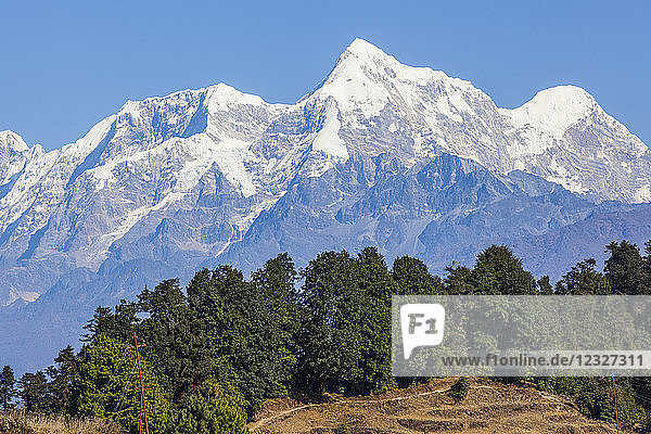 Mountains in the Himalayas; Nepal