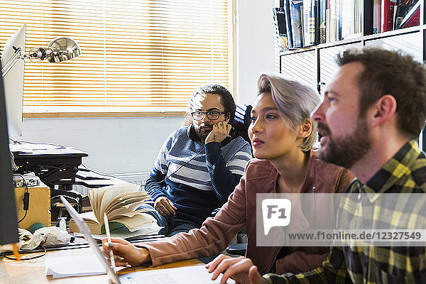 Creative business people meeting in office