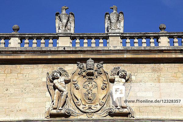 France,  Provence Alpes Cote d'Azur,  Vaucluse (84),  Avignon,  palace square,  hotel des Monnaies