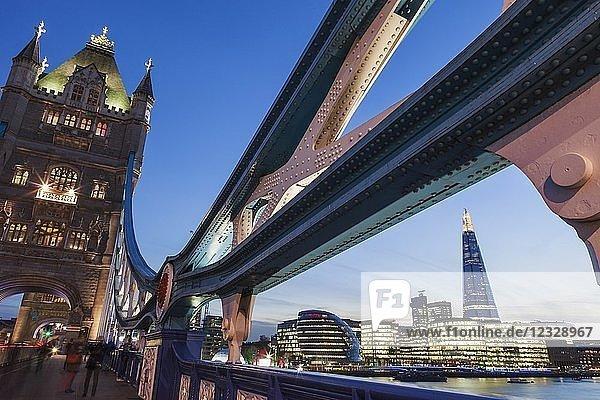 England London The Shard and Southwark Area Skyline from Tower Bridge