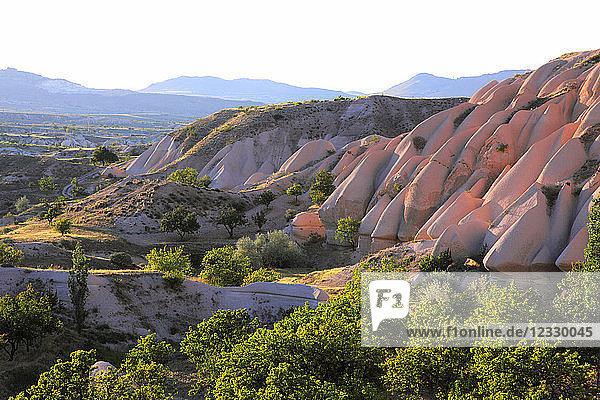 Turkey  Central Anatolia  Cappadocia  Nevsehir province  Uchisar  volcanic rock formation