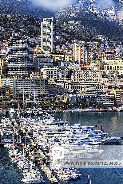 Principality of Monaco  Monaco  Monte Carlo  Cityscape at marina