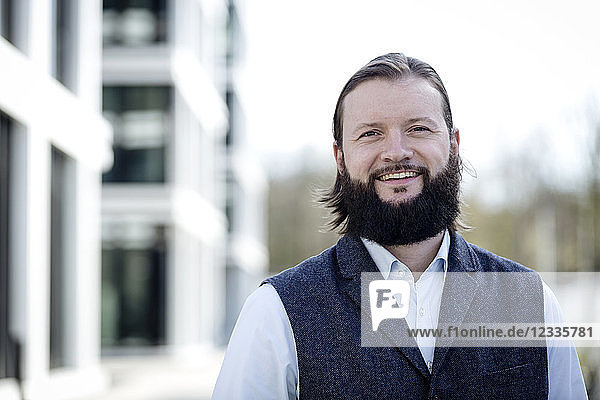 Portrait of bearded businessman