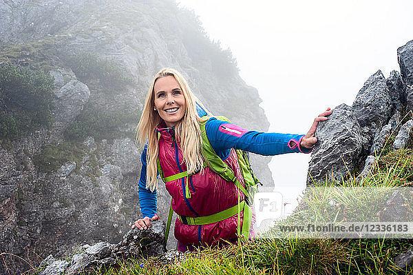 Austria  Salzburg State  Filzmoos  Female hiker