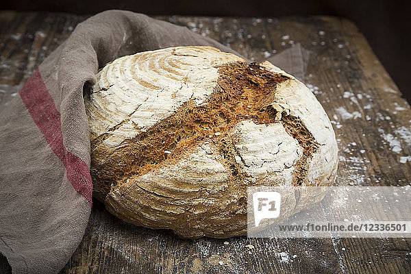 Homemade sourgough rye bread