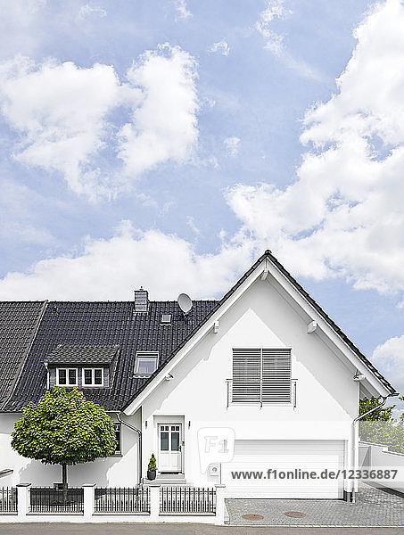 Germany  Cologne  white new built one-family house