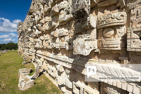 Mayan archaeological site of Kabah on the Puuc route in the state of Yucatan in Mexico.