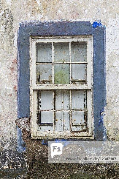 Portugal  Azores  Santa Maria Island  Santa Barbara  farmhouse detail.