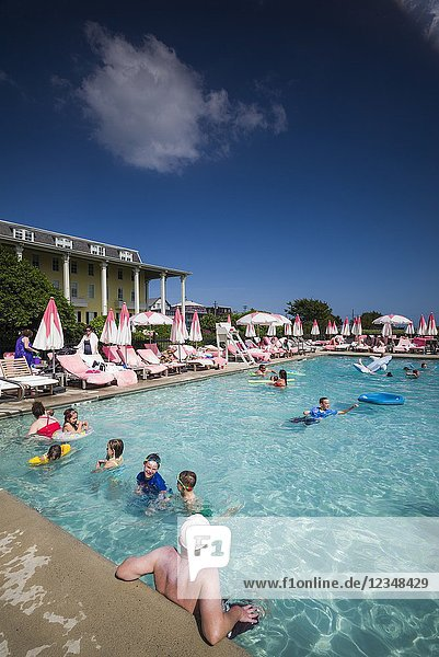 USA  New Jersey  Cape May  Congress Hall Hotel  swimming pool.