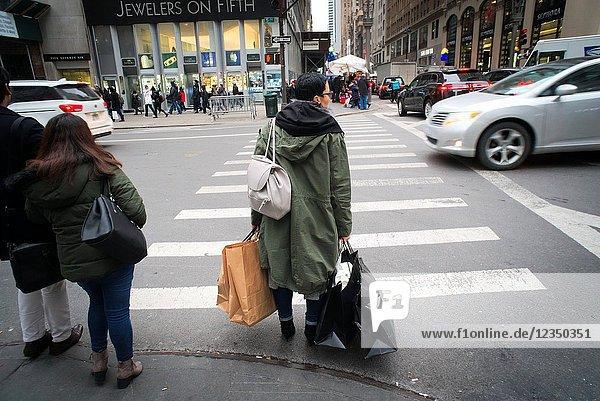 A shopper in Midtown Manhattan in New York on Friday  December 15  2017.