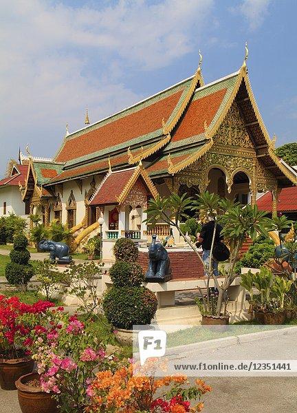 Thailand  Chiang Mai  Wat Chiang Man  buddhist temple .
