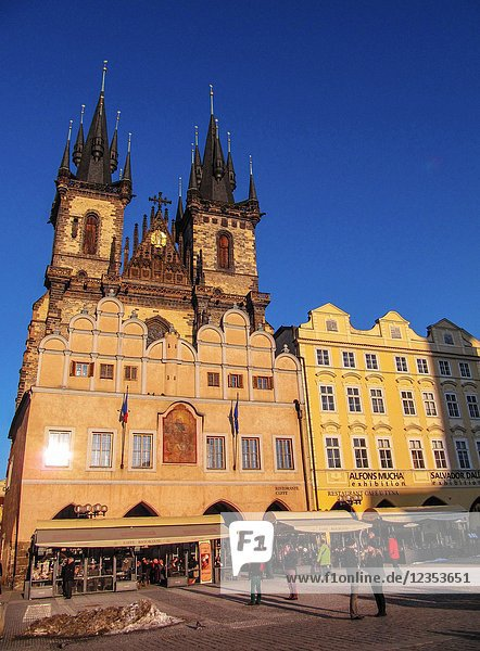 Church of Our Lady  Tyn Church in Old Town Square in Prague  Czech Republic.