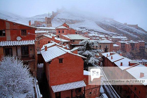 Winter landscape in Albarracín. Teruel.