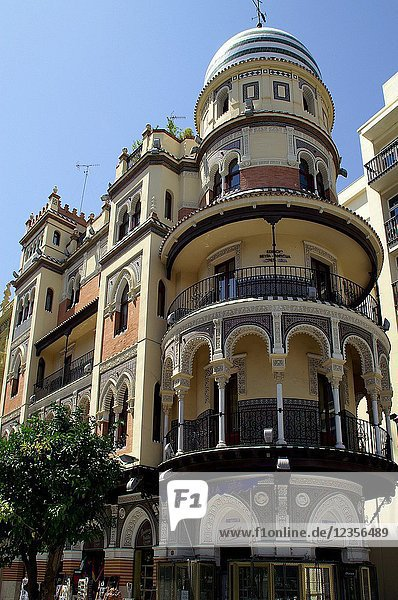 Seville (Spain). Building in the historic center of the city of Seville.