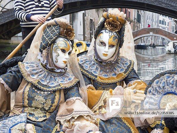 Gondola Ride  Carnival  Venice  Italy.