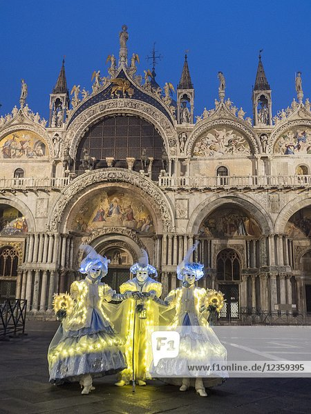 Carnival  St Mark's Basilica  Venice  Italy.