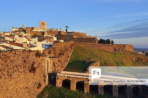 The walled city of Estremoz. Alentejo  Portugal.