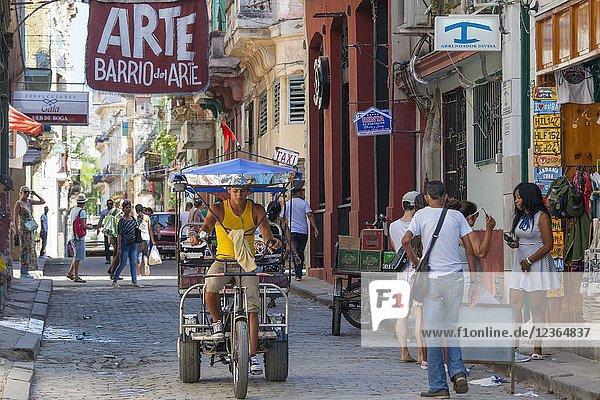 Arte Barrio street in Old Havana Cuba.