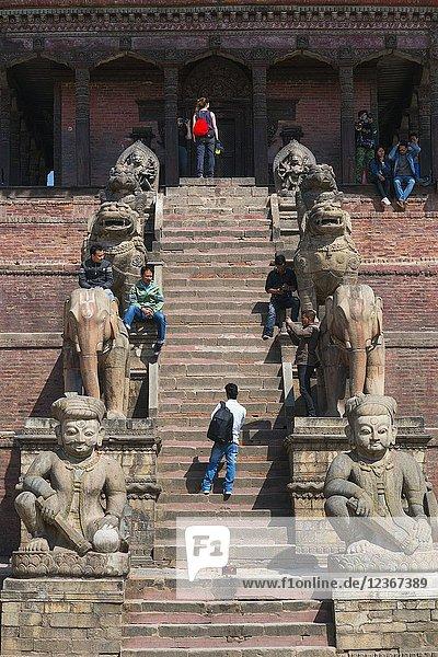 Durbar Square  Bhaktapur City  Kathmandu Valley  Nepal  Asia  Unesco World Heritage Site.