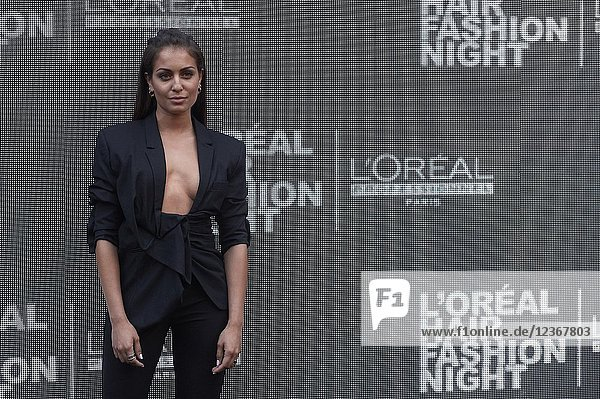 Hiba Abouk attends L'Oreal Professionnel Hair Fashion night at Callao Cinema on June 7  2018 in Madrid  Spain