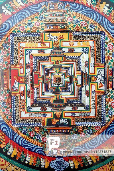 A mandala is a spiritual and ritual symbol in Hinduism and Buddhism  representing the universe Ho Chi Minh City.