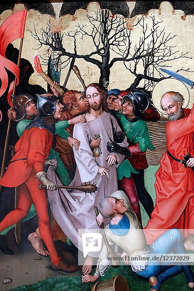 Christ in his Passion. The kiss of Judas.