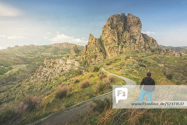 Pentedattilo  Parco Nazionale dell'Aspromonte  District of Reggio Calabria  Calabria  Italy.