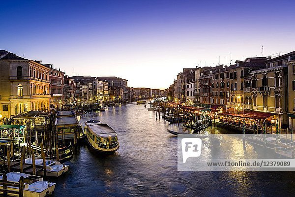 A View Of The Grand Canal Taken From The Rialto Bridge  Venice  Italy.
