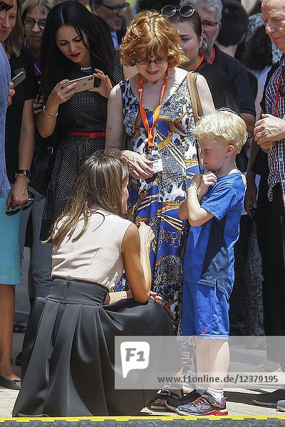 Queen Letizia of Spain attends the celebration of the'International Deafblind Day during the 'World Federation of the Deafblind at Plaza de SS.MM. los Reyes de Espana on June 27,  2018 in Benidorm,  Spain. Queen Letizia of Spain attends the celebration of the'International Deafblind Day during the 'World Federation of the Deafblind at Plaza de SS.MM. los Reyes de Espana on June 27,  2018 in Benidorm,  Spain