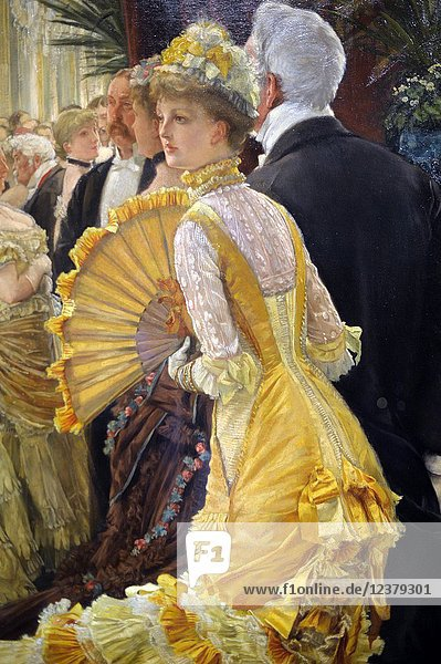 Evening  (ou Le Bal)  1878  James Tissot  Musee d'Orsay  Orsay Museum  Paris  France  Europe.