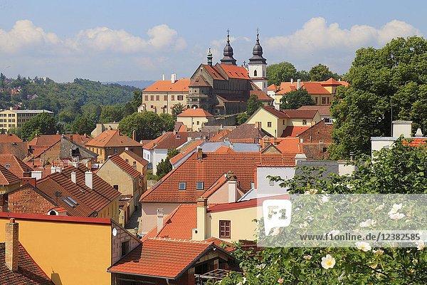 Czech Republic  Trebic  skyline  general view .