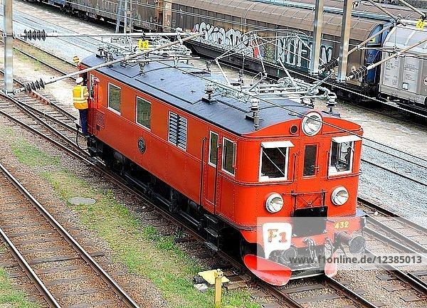 Elektrische Museumslokomotive  Baujahr 1936  Ystad  Scania  Schweden  Europa