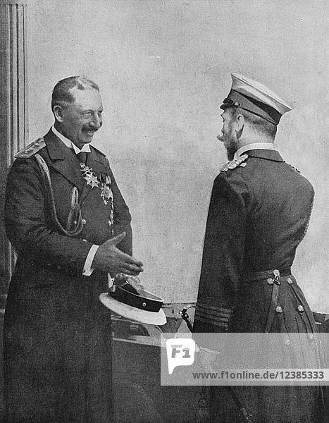 Wilhelm II. der deutsche Kaiser und Nikolaus II. der russische Kaiser  Deutschland  Europa