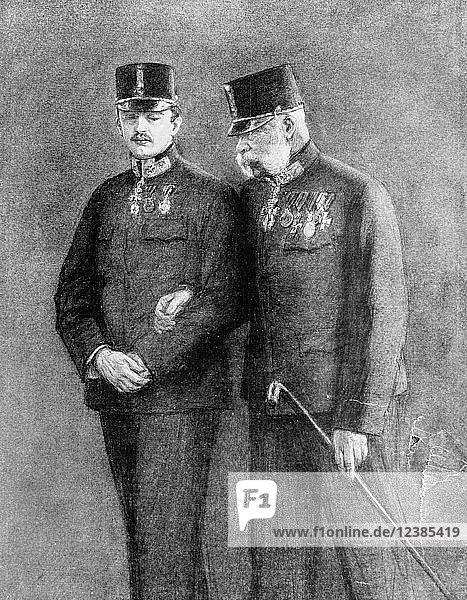 Erzherzog François-Joseph und Karl von Habsburg  1914  Österreich  Europa
