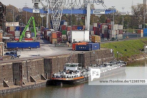 Rheinhafen Krefeld  Niederrhein  Nordrhein-Westfalen  Deutschland  Europa