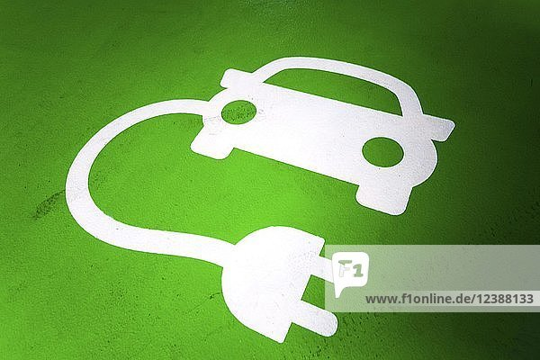 Symbol picture  electric car charging station