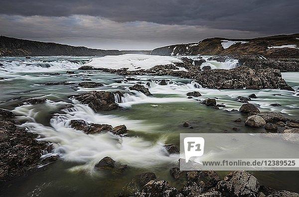 Waterfall Urridafoss  Suduria  Island