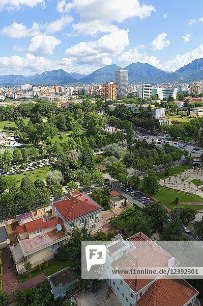 View over Tirana  Tirana  Albania.