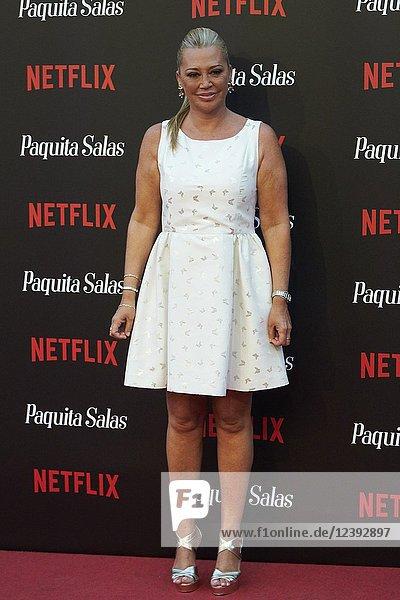 Belen Esteban attends 'Paquita Salas' Netflix Series Premiere at Callao Cinema on June 28  2018 in Madrid  Spain