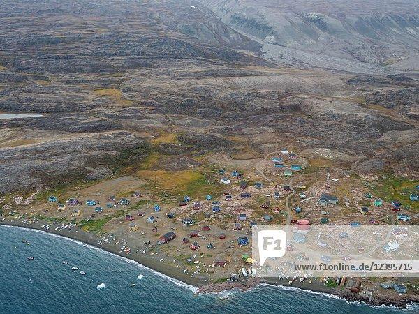 Qaarsut village on the Nuassuaq Peninsula. America  North America  Greenland  Denmark.