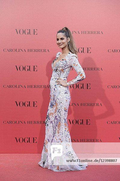Ariadne Artiles attends Vogue 30th Anniversary Party at Casa Velazquez on July 12  2018 in Madrid  Spain