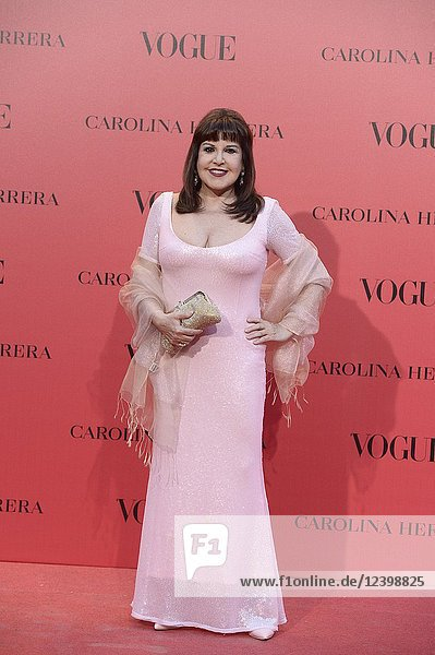 Loles Leon attends Vogue 30th Anniversary Party at Casa Velazquez on July 12  2018 in Madrid  Spain