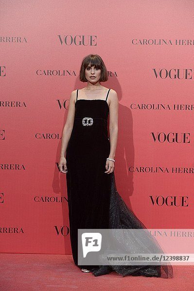 Veronica Echegui attends Vogue 30th Anniversary Party at Casa Velazquez on July 12  2018 in Madrid  Spain