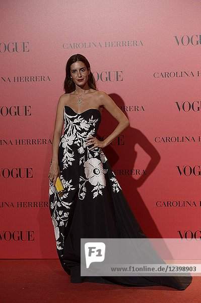 Gala Gonzalez attends Vogue 30th Anniversary Party at Casa Velazquez on July 12  2018 in Madrid  Spain