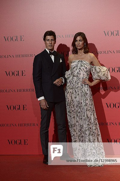 Oriol Elcacho  Davinia attends Vogue 30th Anniversary Party at Casa Velazquez on July 12  2018 in Madrid  Spain